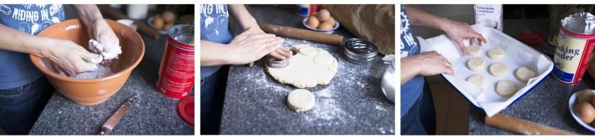 préparation de scones