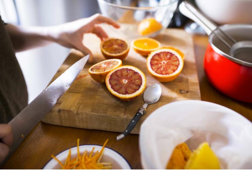 Orange sanguine coupées