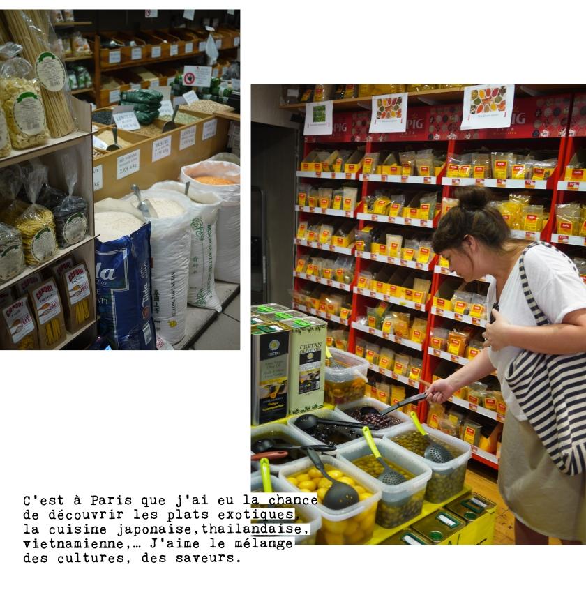 Marie court les épiceries worldwide