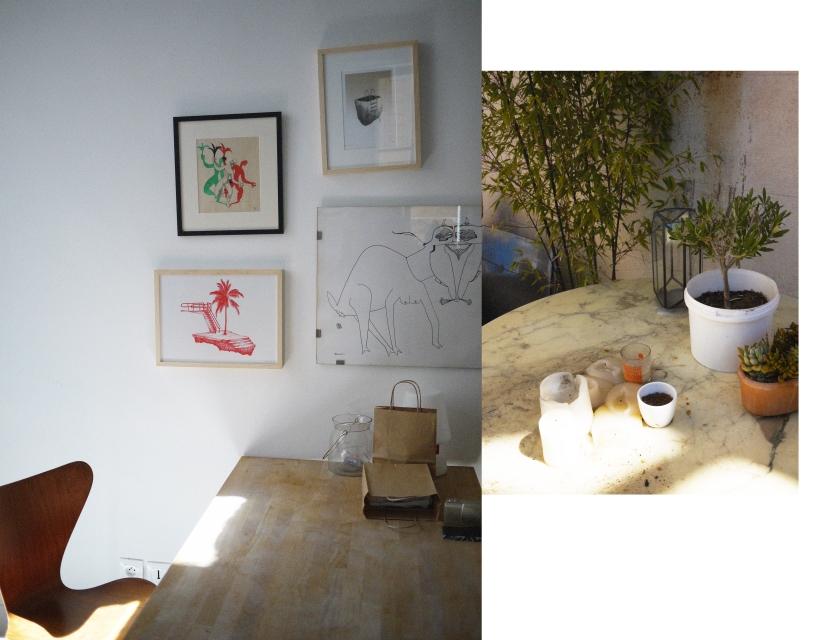 Collage photo intérieur - extérieur