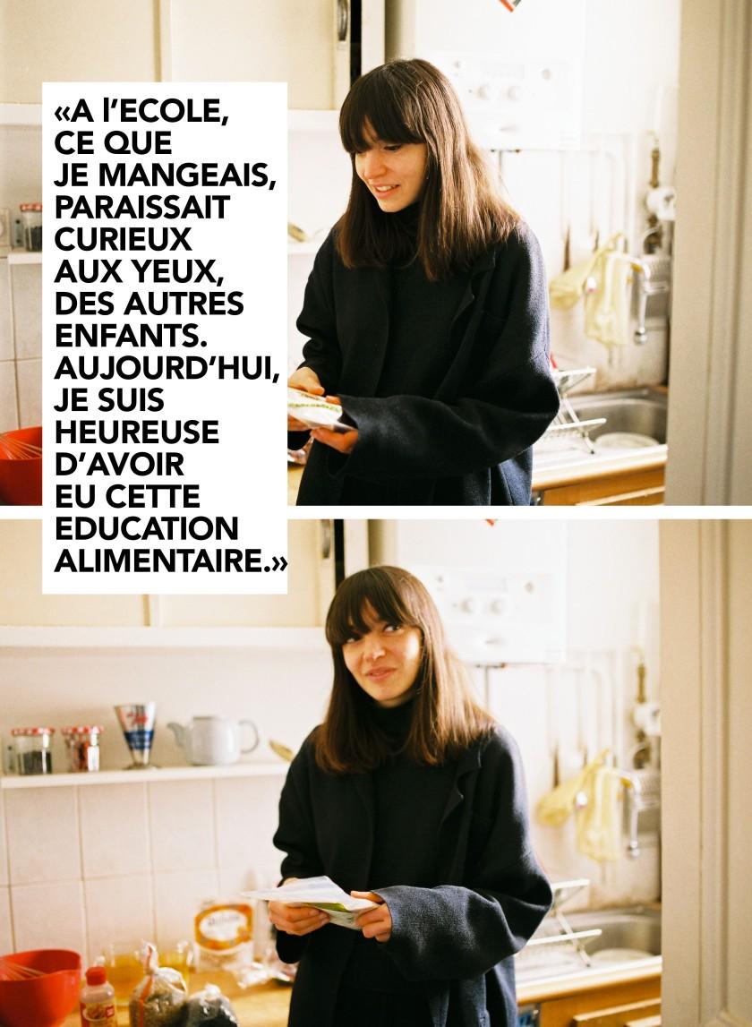Alison dans sa cuisine
