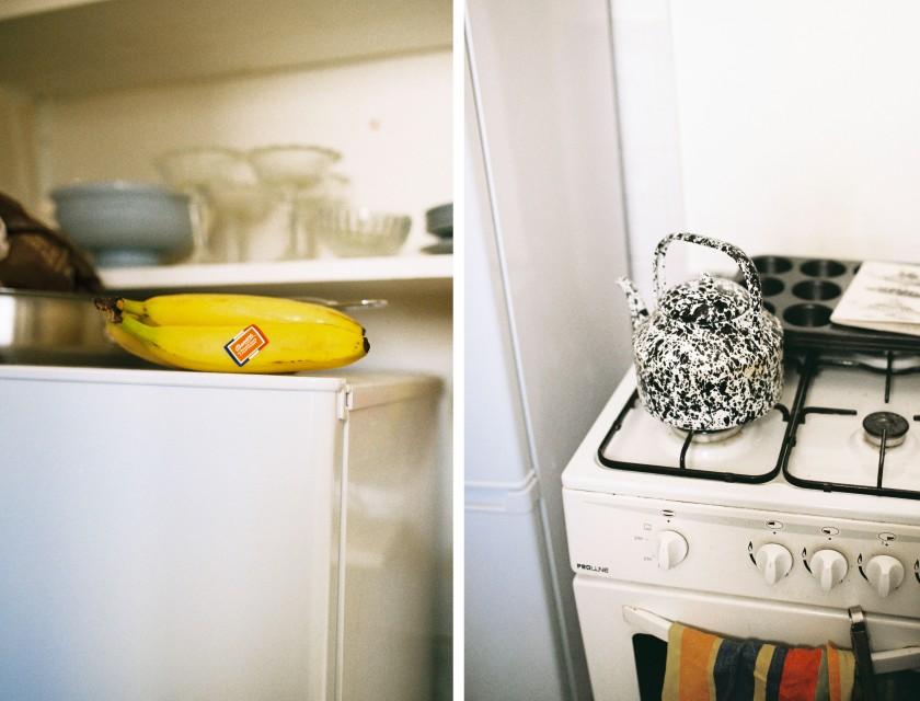 Une bouilloire, des bananes