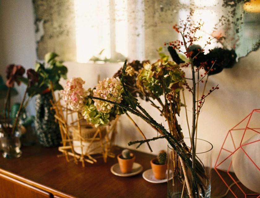 Des fleurs sechees comme un tableau impressionniste