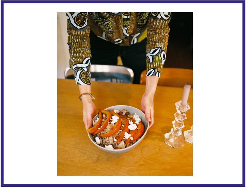 Le plat de Clarisse, potimarron et quinoa