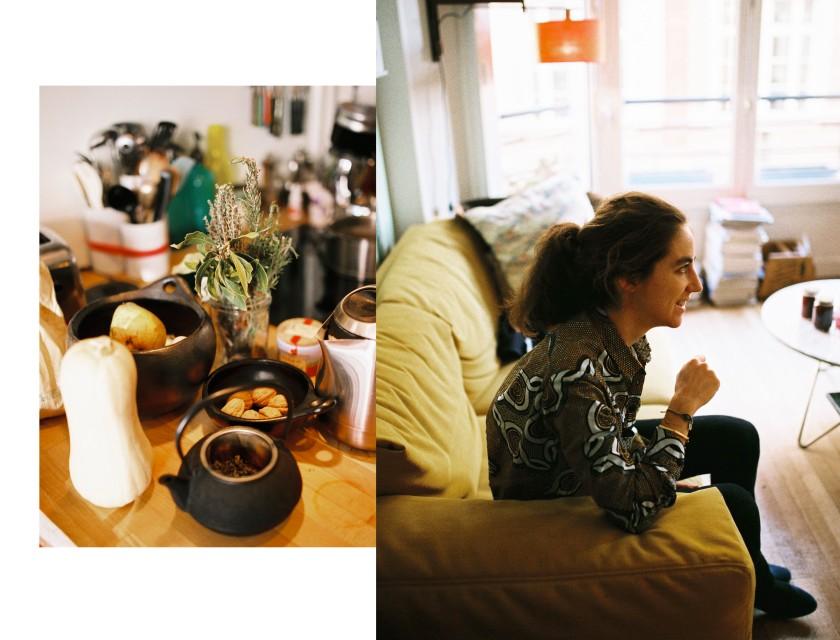 Diptyque / Detail cuisine / Portrait de Clarisse